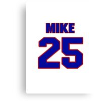 National football player Mike Fitzgerald jersey 25 Canvas Print