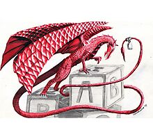 Red dragon- let's play Photographic Print