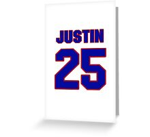 National football player Justin Hamilton jersey 25 Greeting Card