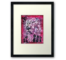 MAD ABOUT CATS Super Cool Cat Lady Art by Loralai Framed Print