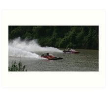 Drag Boat Racing Art Print