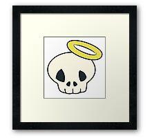 Skull n' Halo Framed Print