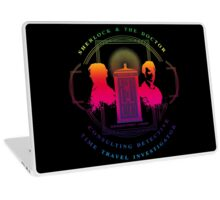 CONSULTING DETECTIVE & TIME TRAVEL INVESTIGATOR RAINBOW VERSION Laptop Skin