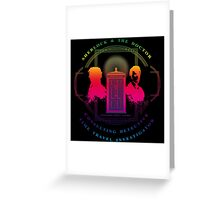 CONSULTING DETECTIVE & TIME TRAVEL INVESTIGATOR RAINBOW VERSION Greeting Card