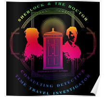 CONSULTING DETECTIVE & TIME TRAVEL INVESTIGATOR RAINBOW VERSION Poster