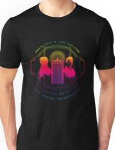 CONSULTING DETECTIVE & TIME TRAVEL INVESTIGATOR RAINBOW VERSION Unisex T-Shirt
