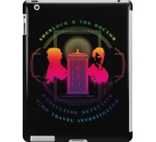 CONSULTING DETECTIVE & TIME TRAVEL INVESTIGATOR RAINBOW VERSION iPad Case/Skin
