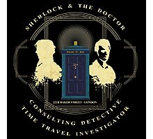 CONSULTING DETECTIVE & TIME TRAVEL INVESTIGATOR   Photographic Print