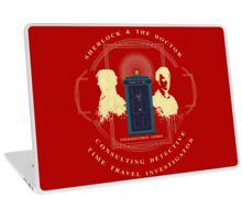CONSULTING DETECTIVE & TIME TRAVEL INVESTIGATOR   Laptop Skin