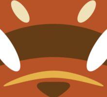Red Raccoon Dog Sticker