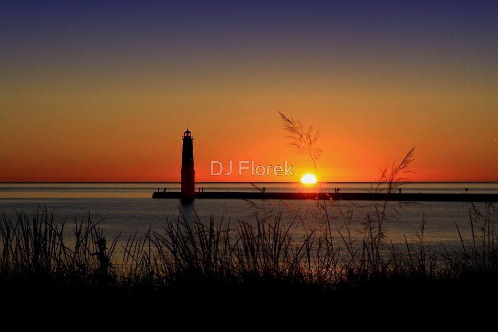 Frankfort North Breakwater Lighthouse by DJ Florek