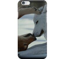 Sweet wolf couple iPhone Case/Skin