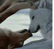 Sweet wolf couple by jccat