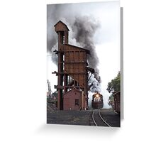 Steam Train Leaving Chama Greeting Card