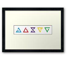 The Witcher Magic Signs Framed Print
