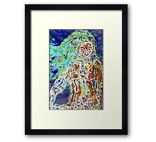 Lady of the Water - Collagraph Print Framed Print