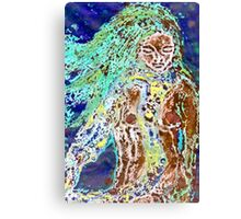 Lady of the Water - Collagraph Print Canvas Print