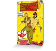 Espionage Comics #156 Greeting Card