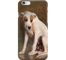 handle with care,  street dog portrait iPhone Case/Skin