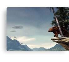 Do Aliens Get Grizzly? Canvas Print