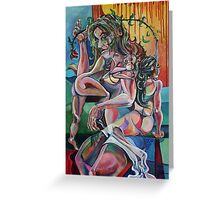 The Enigma of the Woman (Acrylics)- Greeting Card