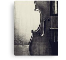 Fiddle Portrait in Black and White Canvas Print