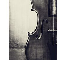 Fiddle Portrait in Black and White Photographic Print