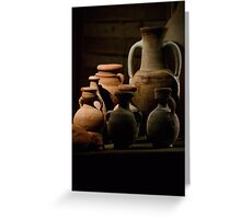 Pots of clay Greeting Card