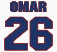 National football player Omar Stoutmire jersey 26 by imsport