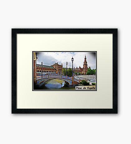 Plaza de España, Sevilla Framed Print