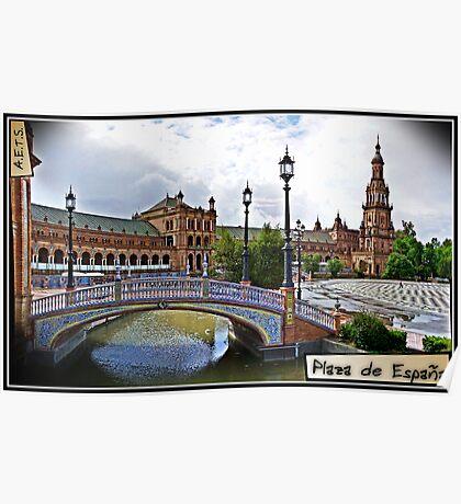 Plaza de España, Sevilla Poster