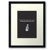 Captain Swan Quote (Once Upon a Time) Framed Print