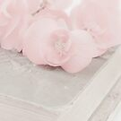 Pink Begonias And Vintage Book by Sandra Foster