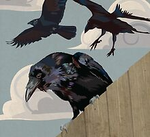 Crow invasion by Carl Conway