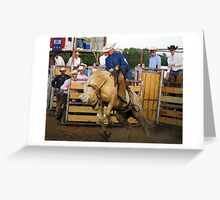 Out of the chutes Greeting Card