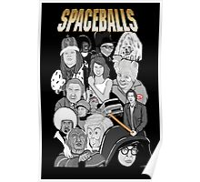 spaceballs character collage Poster