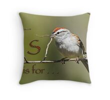 S if for . . . Throw Pillow