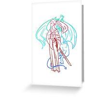 Samurai Dragon Spirit Greeting Card