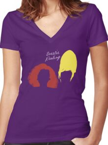 "The AbFab // ""Sweetie Darling"" Women's Fitted V-Neck T-Shirt"