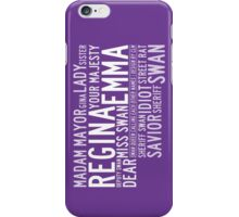Swan Queen Nicknames (purple) iPhone Case/Skin