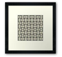 Silver Tracery Framed Print