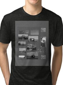 B&W Commissioning USS North Carolina  (SSN-777) Tri-blend T-Shirt