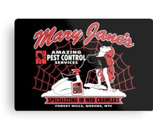 Mary Jane's Pest Control Metal Print