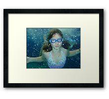 Mer girl Framed Print