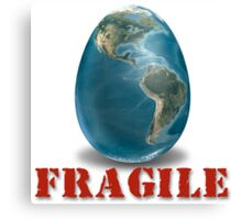 Earth-Fragile Canvas Print