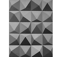 Abstract patterns grey and black Photographic Print