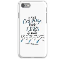 amy poehler (blue) iPhone Case/Skin