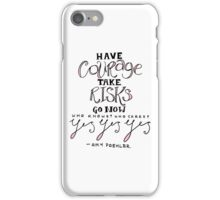 amy poehler (pink) iPhone Case/Skin