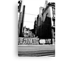 Street Art, Brussels  Canvas Print