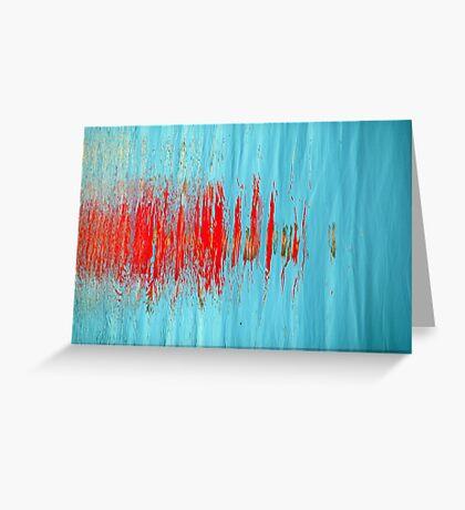 Slash of Red Greeting Card